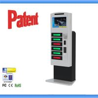 mobile phone charging station with advertising coin public phone charging station