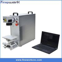 Fiber laser marking machine for stainless steel and metal aluninum