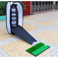 SURAVO Golf Hitting Net Practice Target Chipping Training Aids Practice at Backyard Collapsible thumbnail image