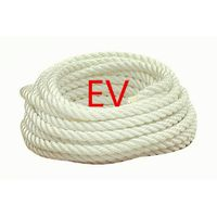 3-strand twisted poly/Dacron rope white/tracers