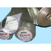 Double Sided Perforated Reflective Aluminium Foil, 8x8 Fiberglass Scrim Reinforced