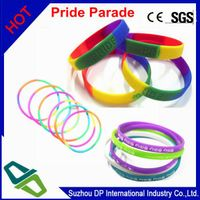 customized debossed & printed with color filled Silicon Wristbands for promotion