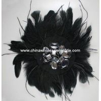 Feather Flower Brooches