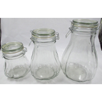 Glass Storage Jar/Glassware with Clip/Clamp/Locking Lid,Pumpkin bottle