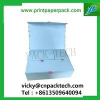Bespoke High-End Elegant Folding Paper Jewelry Box Luxe Ribbon Jewelry Box Custom Paper Gift Box thumbnail image