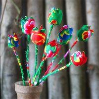 Artificial tulips flower arrangement thumbnail image