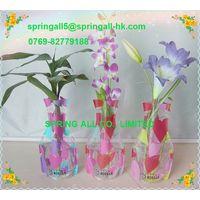 Magic Foldable pvc vase , measure 26.5*15*9.5CM