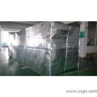 Aluminum foil bulk container thermal insulation liner pallet cover