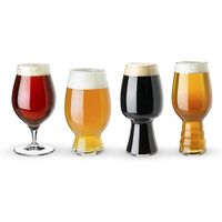 Transparent beer glasses mugs black beer bottle beer glass cup