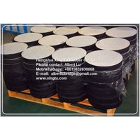 Elastomeric rubber bearing pad for bridge