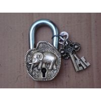Safety Padlock Lock with Elephant Art