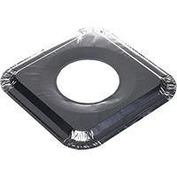 Gas Burner Liners (50 Pack) Disposable Aluminum Foil Square Stove Burner Covers thumbnail image