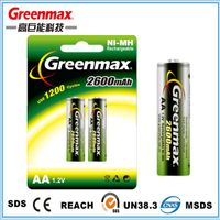 1.2v 2600mAh aa battery manufacturer rechargeable battery for electronic toy