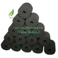 Charcoal for BBQ from Coconut Shell with Cylinder shape briquette