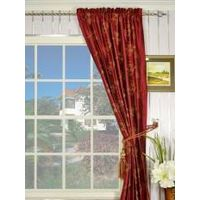 Halo Embroidered Cranes Rod Pocket Dupioni Silk Curtain