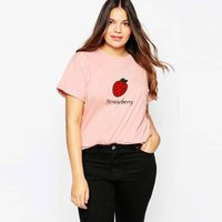 wholesale womens printed oversized t shirts