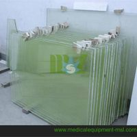 X ray lead glass|x-ray protective lead anti-radiation glass with size customized-MSLLG01