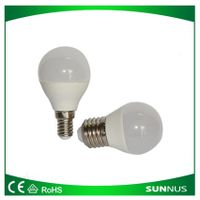 G45 LED Bulbs, B22 with IC/RC Driver 3-5.5W/AC100-240V,CE&RoHS Mark,ISO9001 Factory
