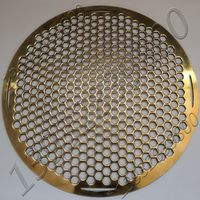 Easygo Brass Perforated Metal Plate Square Hole Opening Round BBQ Grill