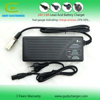24V Lead acid battery charger 2.8A for truck battery SLA VRLA GEL AGM battery with LED fuel gauge