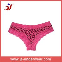 2013 Fashion girls underwear with white leopard printing and lace