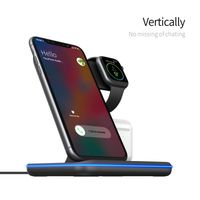 3- in-1 Fast 15W Qi Wireless Charging Stand PM-Z5 for iPhone 12 iWatch iPod thumbnail image