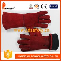 Red welder glove-DLW615