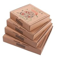 High quality food packaging corrugated wholesale pizza boxes thumbnail image