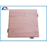 Wood Grain Aluminum Wall Cladding Panel Facade Cladding Panel