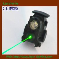 laserwin tactical green laser sight/scope & led light combination for pistols