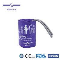 Sino-K Reusable NIBP Cuff with Bladder Double/Single Tube Adult Use 25 - 35 cm Arm Circumference