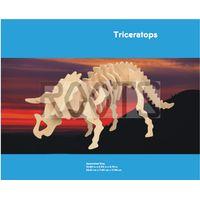 Triceratops-3D wooden puzzles, wooden construction kit,3d wooden models, 3d puzzle thumbnail image