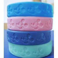 shape debossed silicone wristbands thumbnail image
