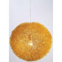 hanging gold aluminum wire ball/Aluminum wire Ball modern pendant light for dining room modern Penda