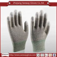 SeeWay 905 Copper Conductive Gloves Fingertip PU Coated Gloves
