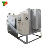 Volute screw press sludge dewatering machine for wastewater treatment plant