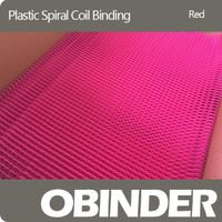 Plastic spiral coil binding popular red
