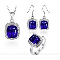 Handmade CZ Jewelry Set Necklace