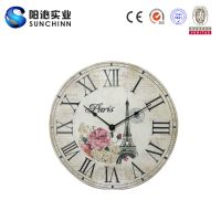 Flower Eiffel Tower Wall Clock (SCWD00042)