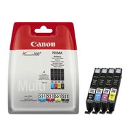 Best price Canon CLI-551 Multipack Colour Ink Cartridge thumbnail image