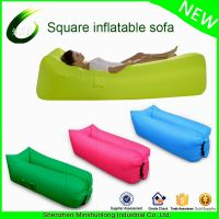 Portable air inflatable sofa bed beach lazy sleeping bag air lounge