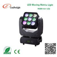 Matrix Light 9x10w / 3*3 4in1 Led Matrix Moving Head Light for concert show night club bar