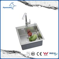 man-made luxury stainless steel portable kitchen sink with strainer (ACS5048A1)