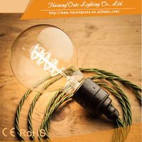 G80 vintage filament decorative bulb E27 60W 110V for cafe and bar e27 decorative bulb