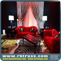 pipe & drape kits retental price outdoor fashion stage pipe and drape round used for events/ exhibit