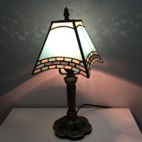 8 Inch Aqua Blue Table Lighting Tiffany lamp for Be