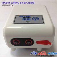 safe and reliable energy efficient lithium battery ac-dc aquarium mini air pump
