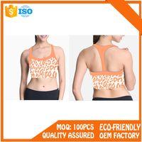 High impact padded custom blank wholesale sports bra