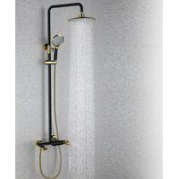 Golden European Brass Bathroom Shower Mixer Faucet thumbnail image