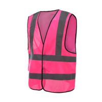 Audit Factory pink safety clothing sweeper workwear safety reflective vest thumbnail image